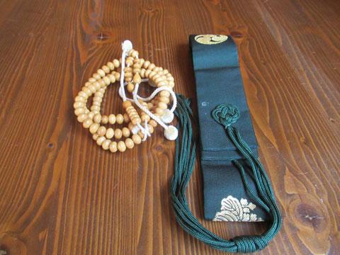 数珠と輪袈裟のお焚き上げ