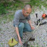 草刈り機の修理