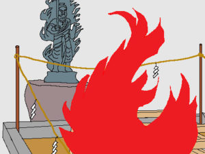 お焚き上げ-火が燃えているイラスト