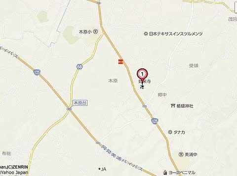 如来寺の地図