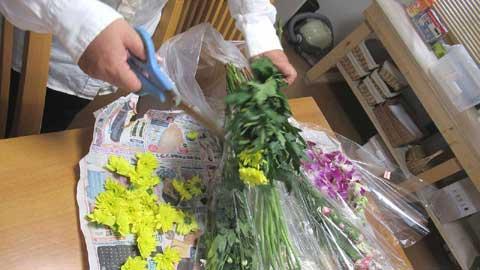 お花の飾りつけをご一緒に