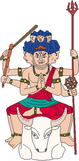 大威徳明王のイラスト