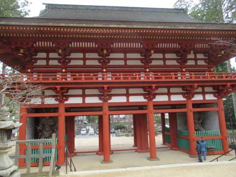 高野山中門の写真