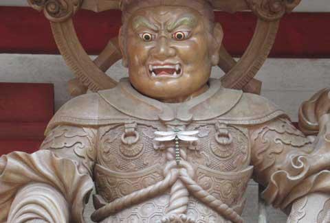 高野山中門の増長天の写真-その1