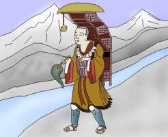 玄奘三蔵のイラスト