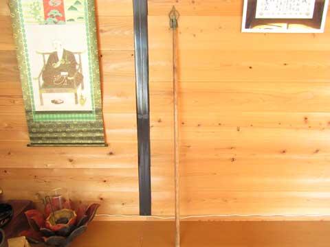 柄の長い錫杖