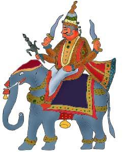 インドラ神のイラスト